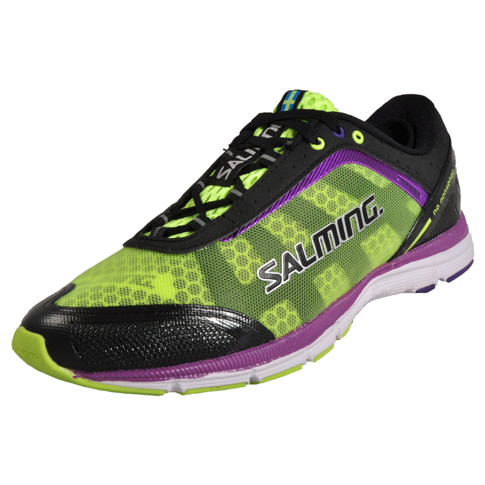 Salming Speed S1 Womens Premium Running Shoes Fitness Gym Trainers Black / Yello