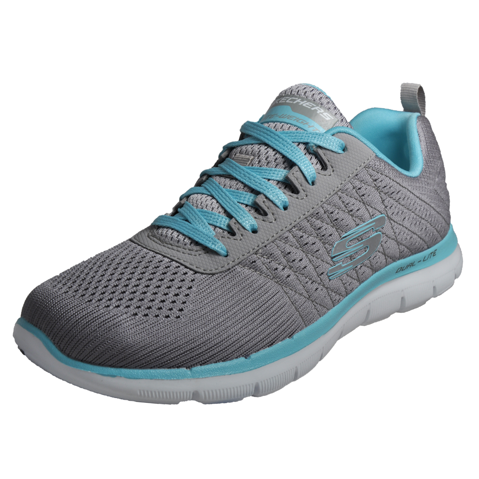 brand new 3eeec b6021 Details about Skechers Flex Appeal 2.0 Womens Memory Foam Running Shoes Gym  Trainers Grey