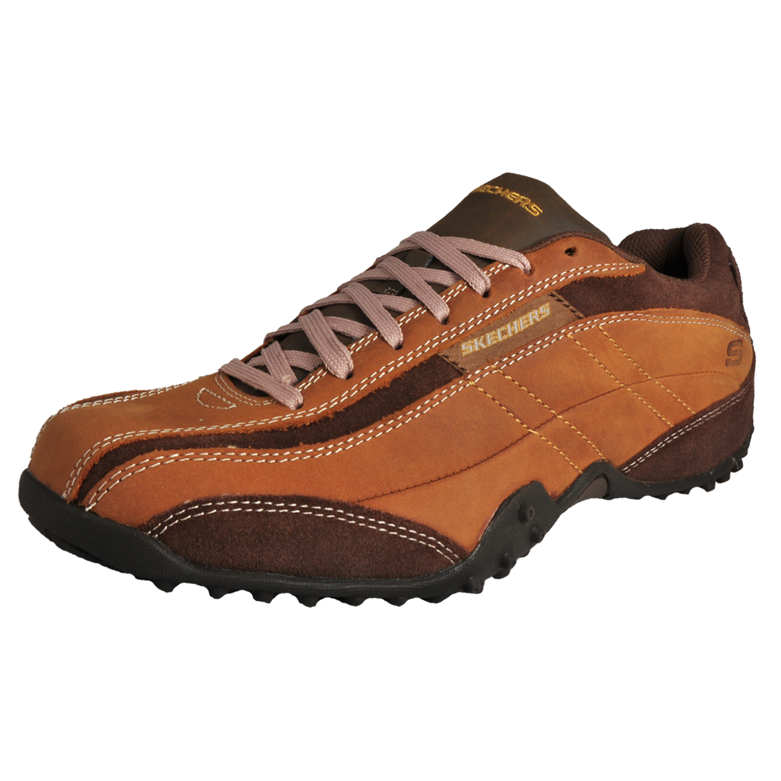 817e67adbfd0 Details about Skechers Urban Track Imperial Men s Casual Leather Shoes Brown