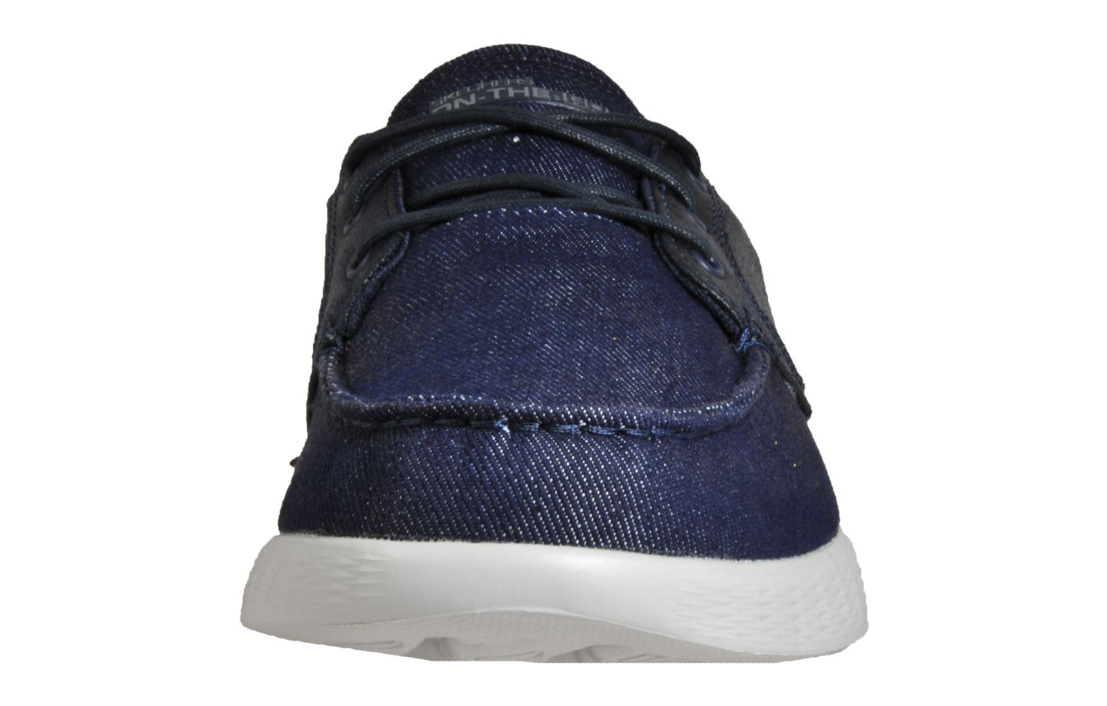 6e0fef0a09c Skechers Mens On The Go Comfort Deck Shoes Lace Up Loafers Navy