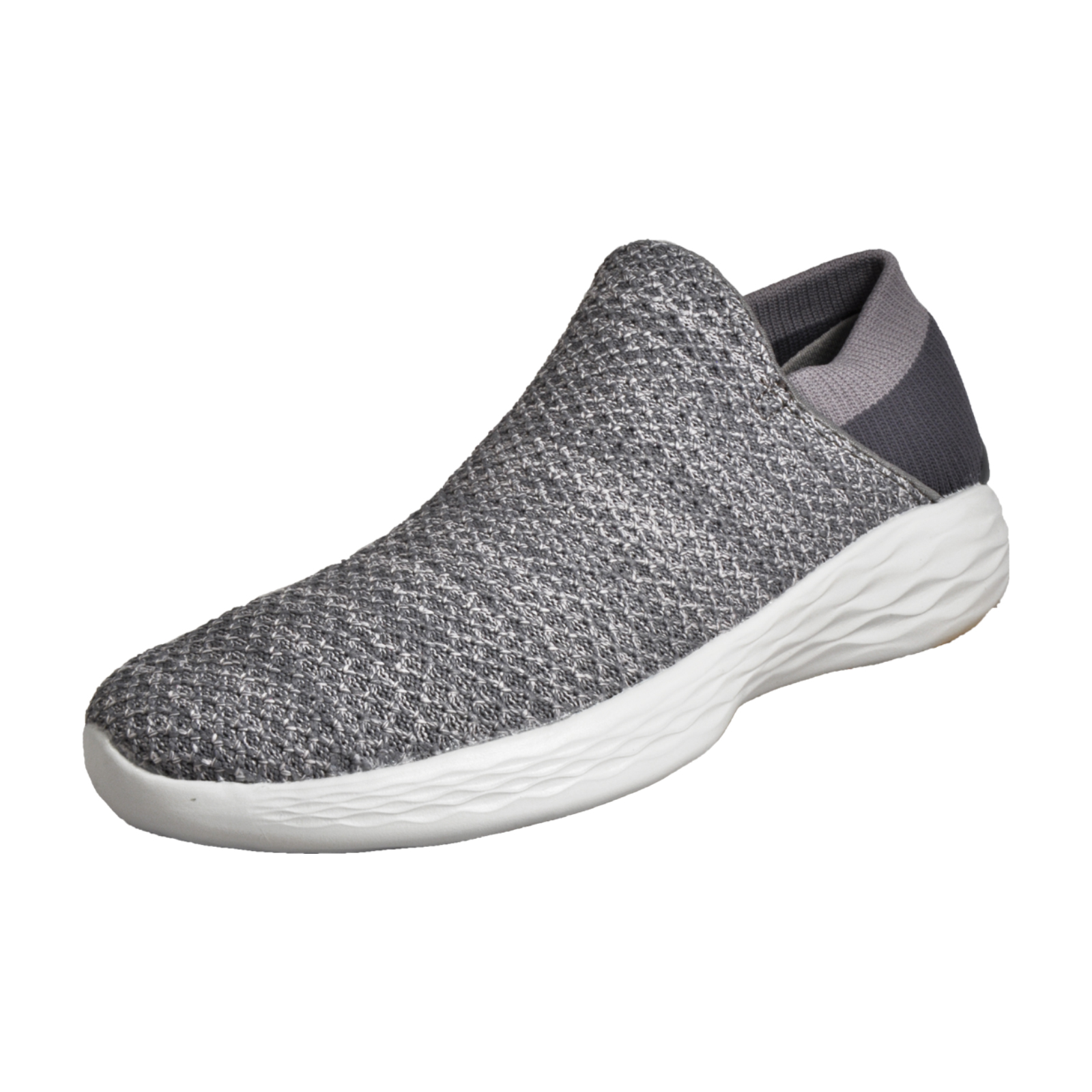 5528f0fe584 Skechers Womens Ladies You Walk Slip On Comfort Trainers Grey. Manufacturers  ...