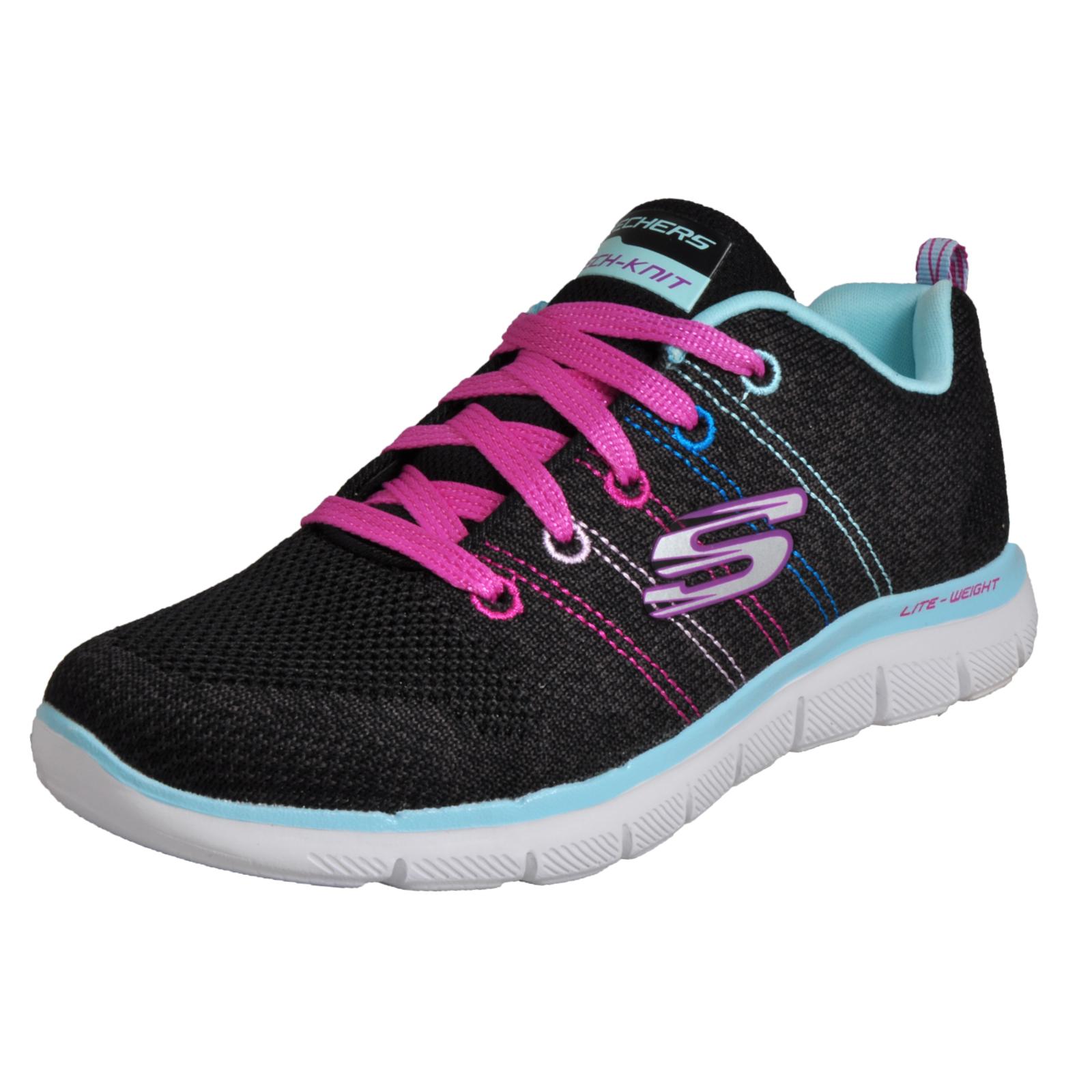 Details about Skechers Flex Appeal 2.0 High Energy Women s Girls Memory Foam  Casual Trainers B f222832b9b