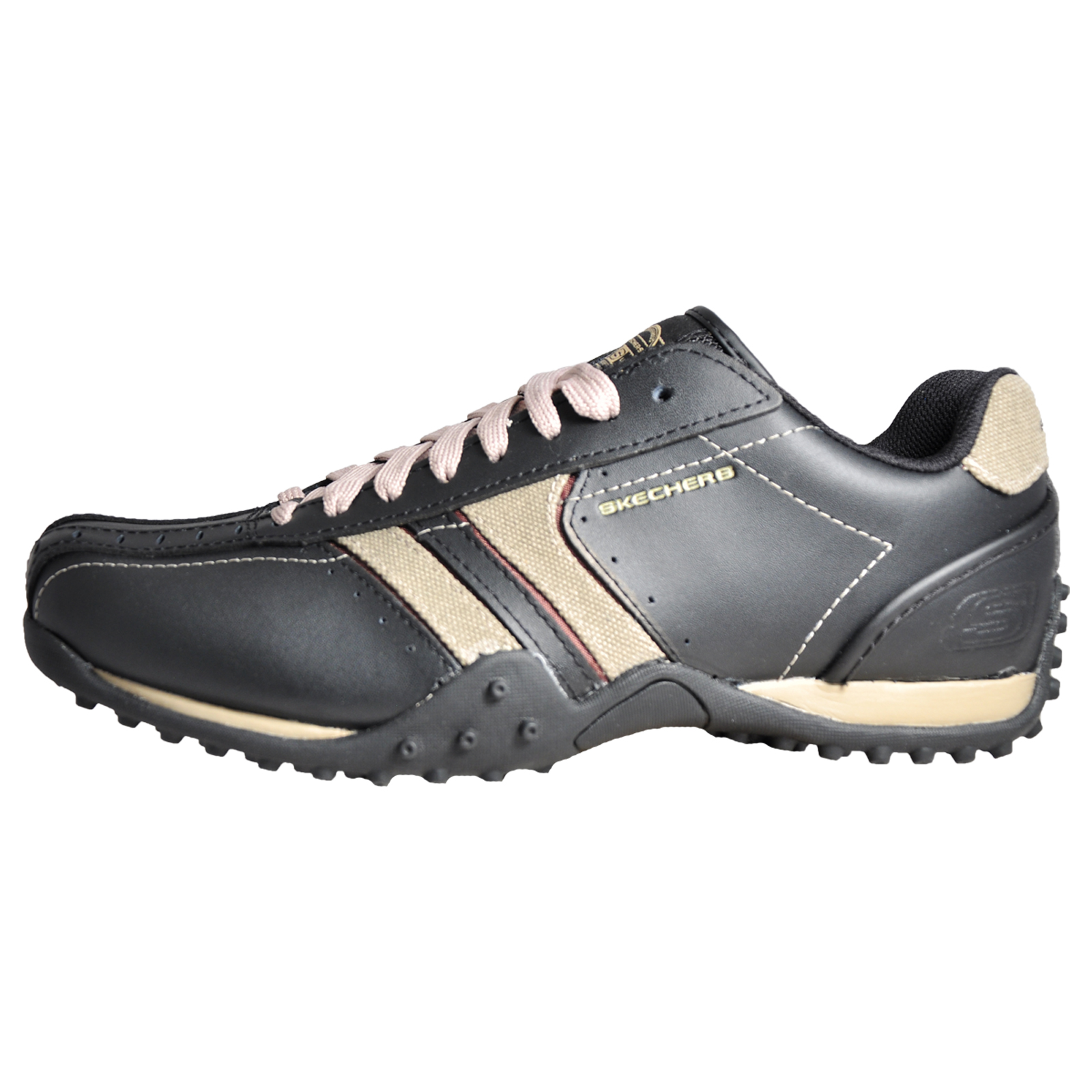 e9fdf7a20d80 Skechers Urban Track Forward Men s Casual Leather Shoes Black