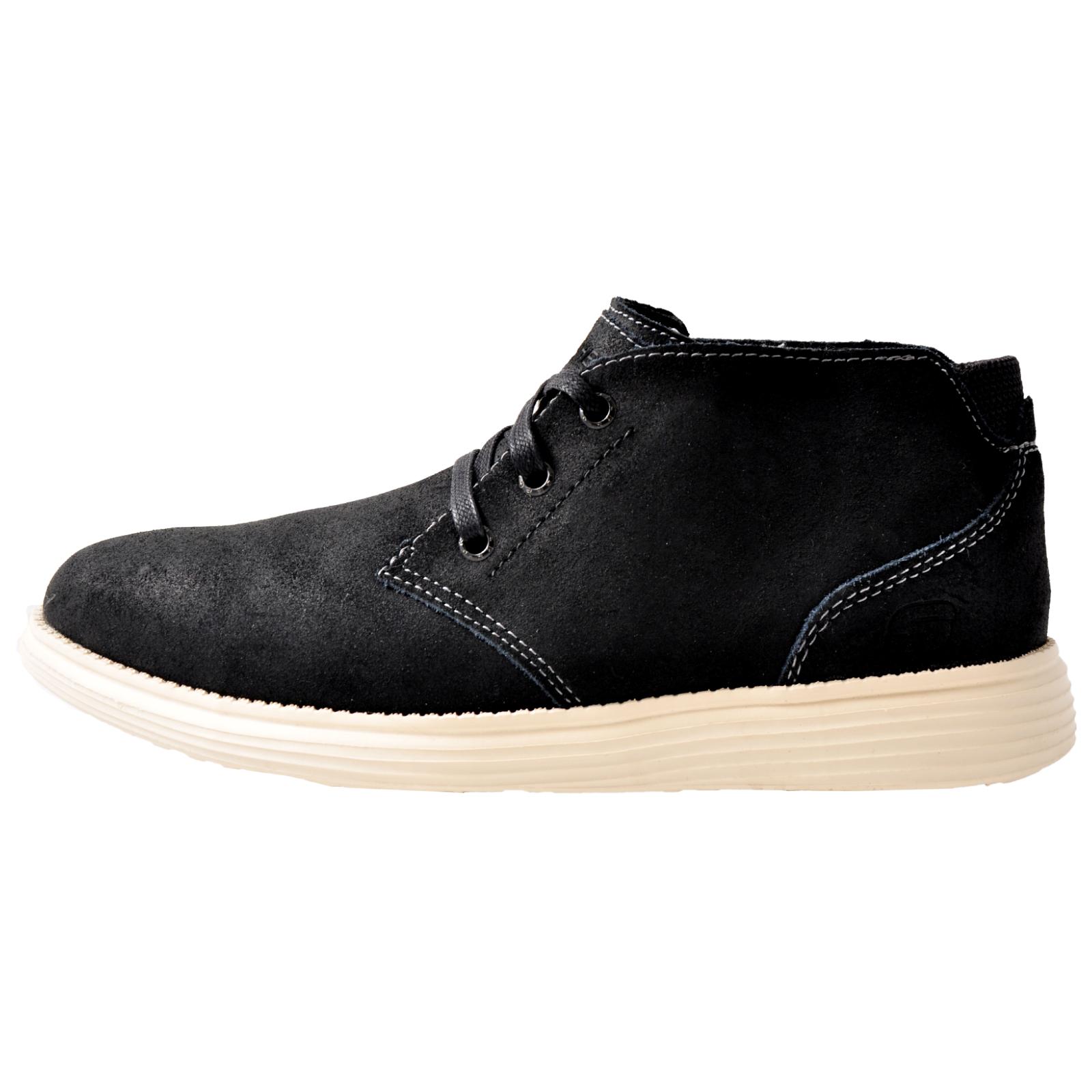 a148118e1edce Skechers Status-Rolano Men s Memory Foam Smart Leather Chukka Ankle ...