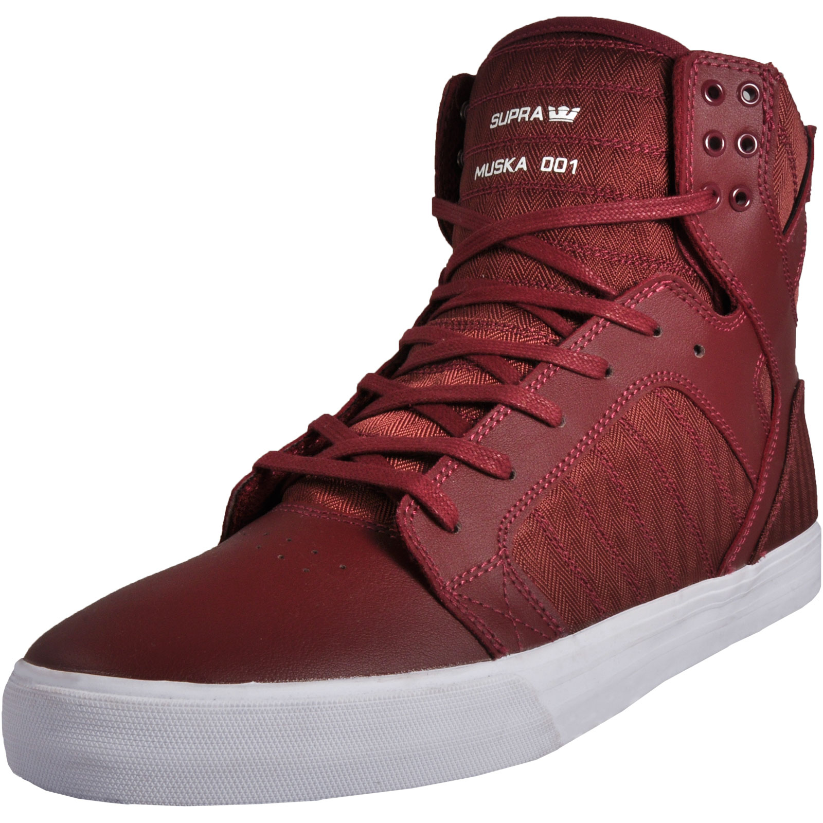 596cf8d6111f Supra X Chad Muska Skytop 001 Mens Casual High-Top Trainers Burgundy UK 12  Only
