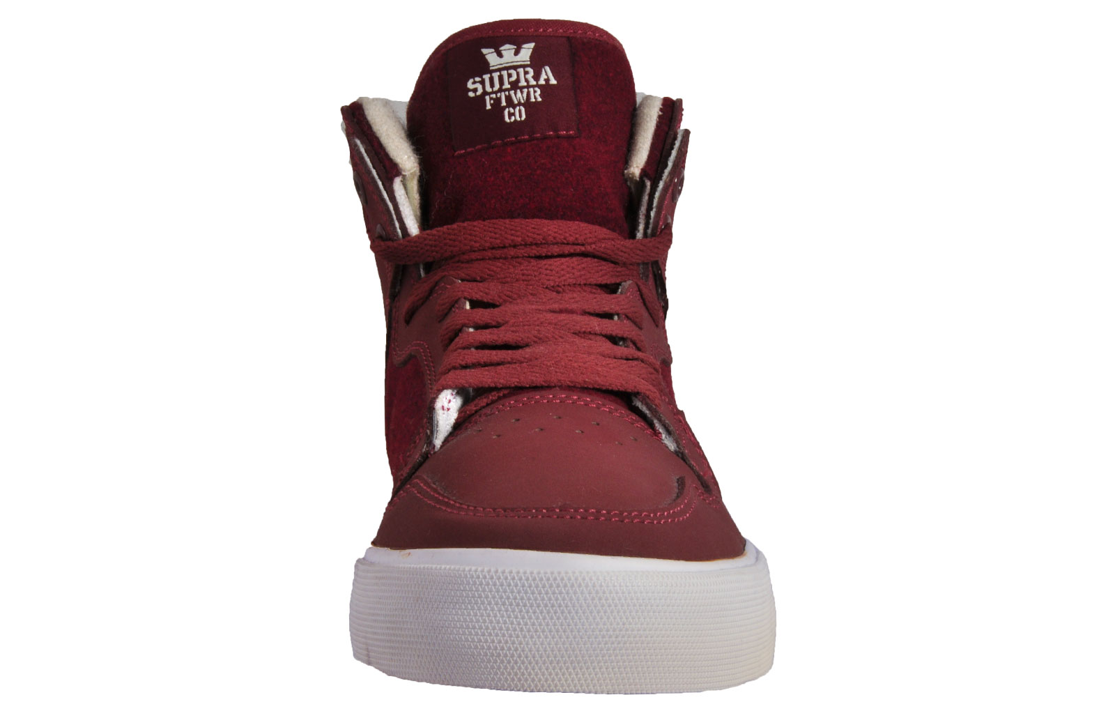 411b6d8472bb Supra Vaider Mens Classic Casual Retro Hi Top Skate Shoes Burgundy ...