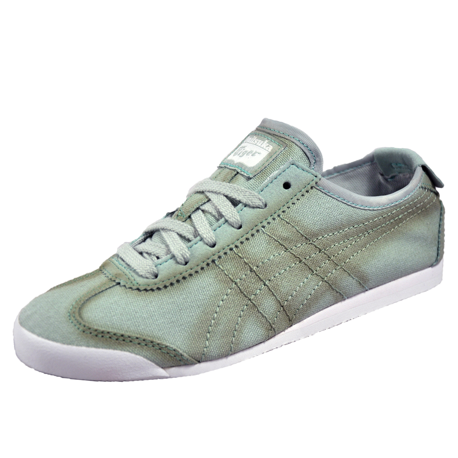 competitive price e53d0 3d2ce Details about Onitsuka Tiger Mexico 66 Womens Classic Canvas Casual Retro  Trainers Smoke Green