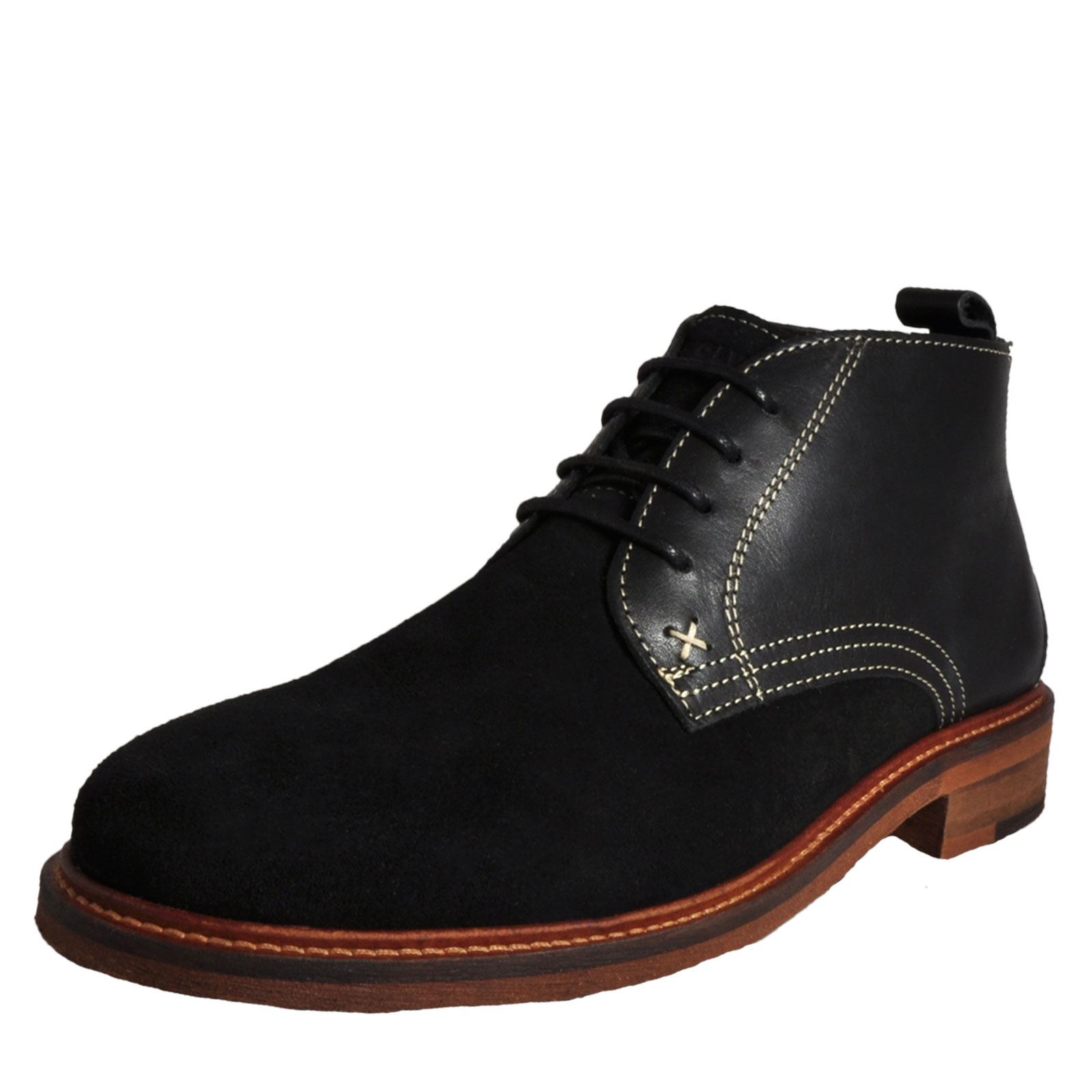 Details about Wolverine 1883 Hensel Men s Classic Suede Leather Chukka  Desert Boots Black 20197cc90