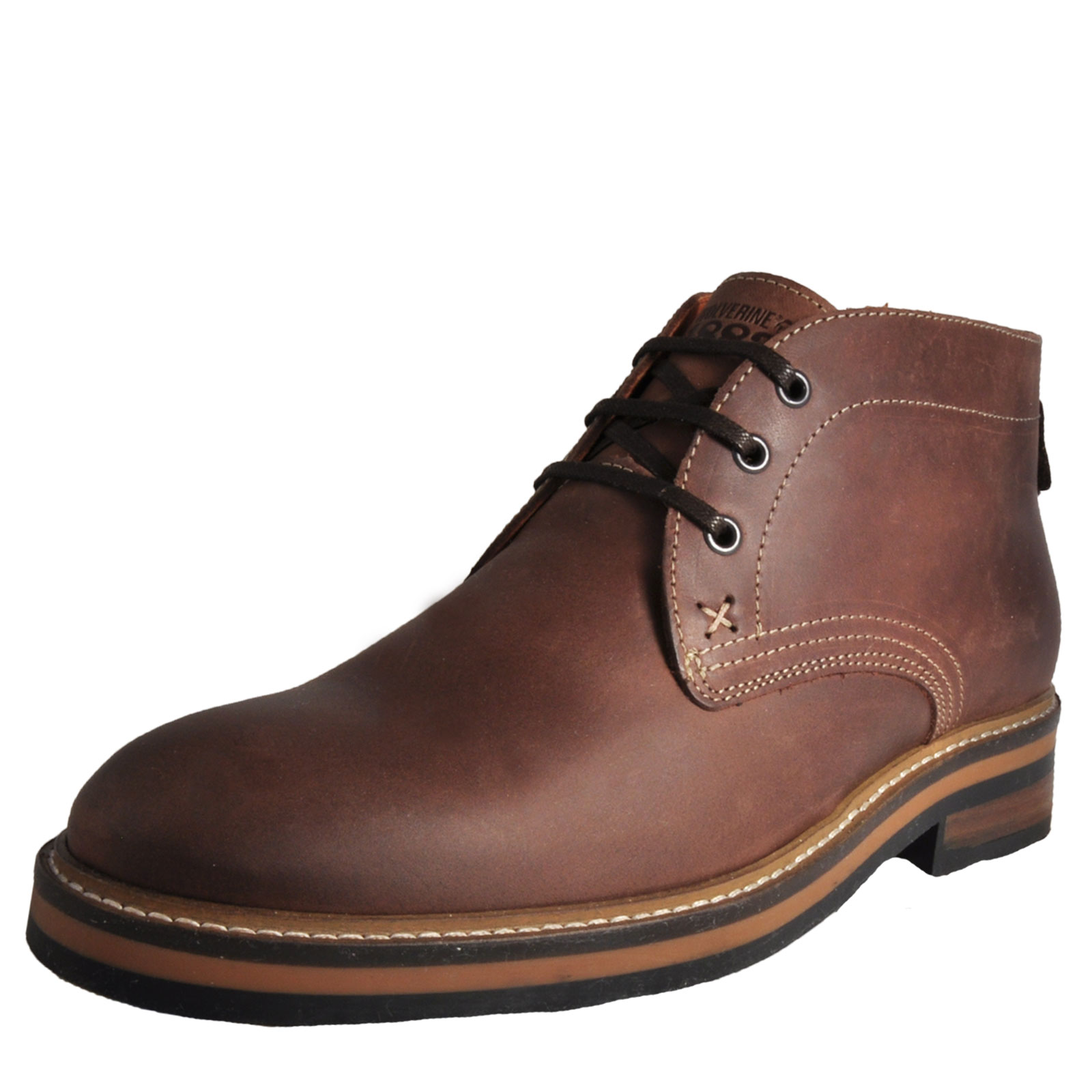 f34ae8a3316 Details about Wolverine 1883 Francisco Mens Leather Chukka Ankle Boots  Smart Dress Shoes Brown