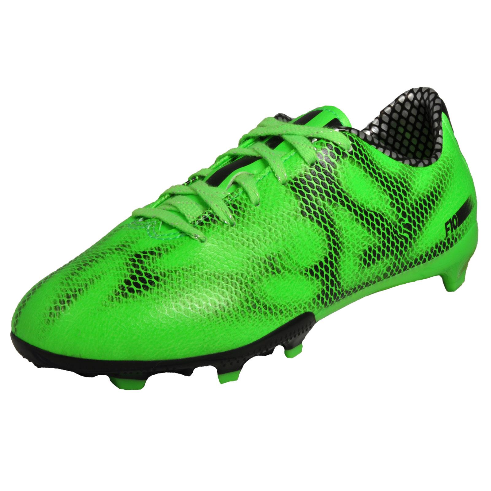 adidas f10 fg junior ragazzi ragazzi premier football stivali verde nero su ebay