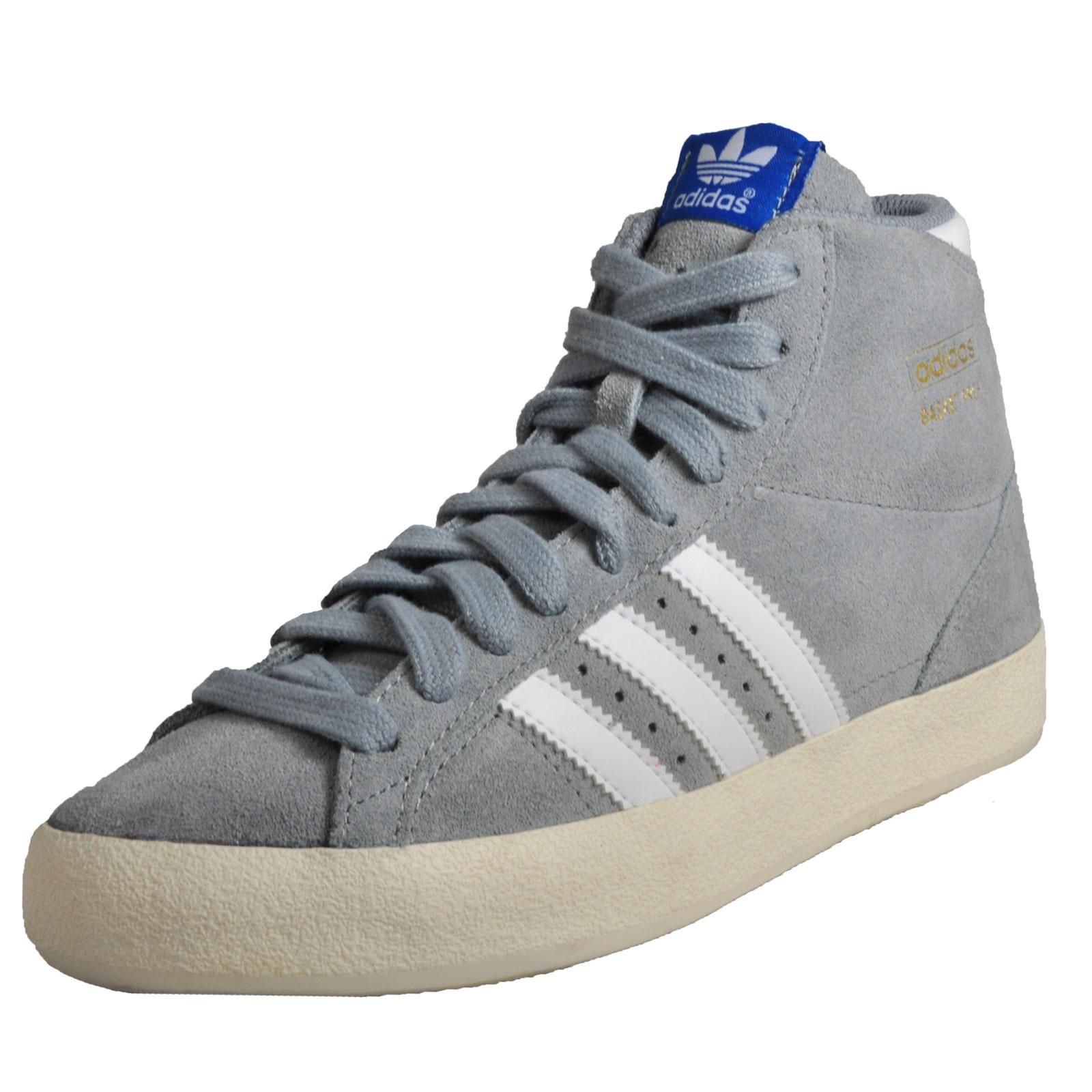 7d5c03c1d45 Details about Adidas Originals Basket Profi Hi Uni Classic Basketball Retro  Trainers Grey B Gr