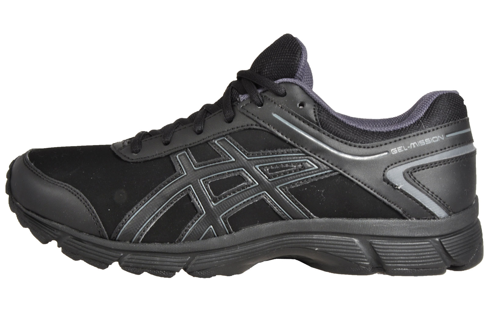7b5a38caa663 Asics Gel Mission Men s Walking Active Fitness Gym Trainers Shoes Black