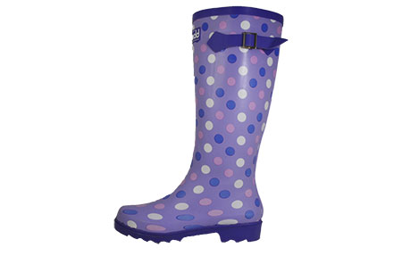 Cotswold Dots Wellington Boots Womens Girls - CW157164
