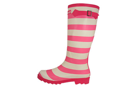 Cotswold Striped Wellington Boots Womens Girls - CW157172