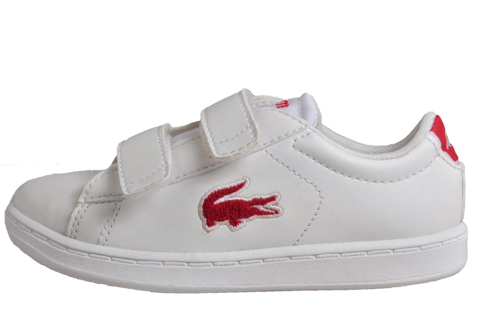04d2db5d222f3c White   Red. Lacoste Carnaby Evo Infants B Grade - LA171843B. alternate  view 2