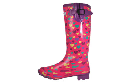 Cotswold Heart Wellington Boots Womens Girls  - PR156869