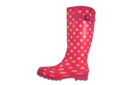 Cotswold Dots Wellington Boots Womens Girls - PR156885