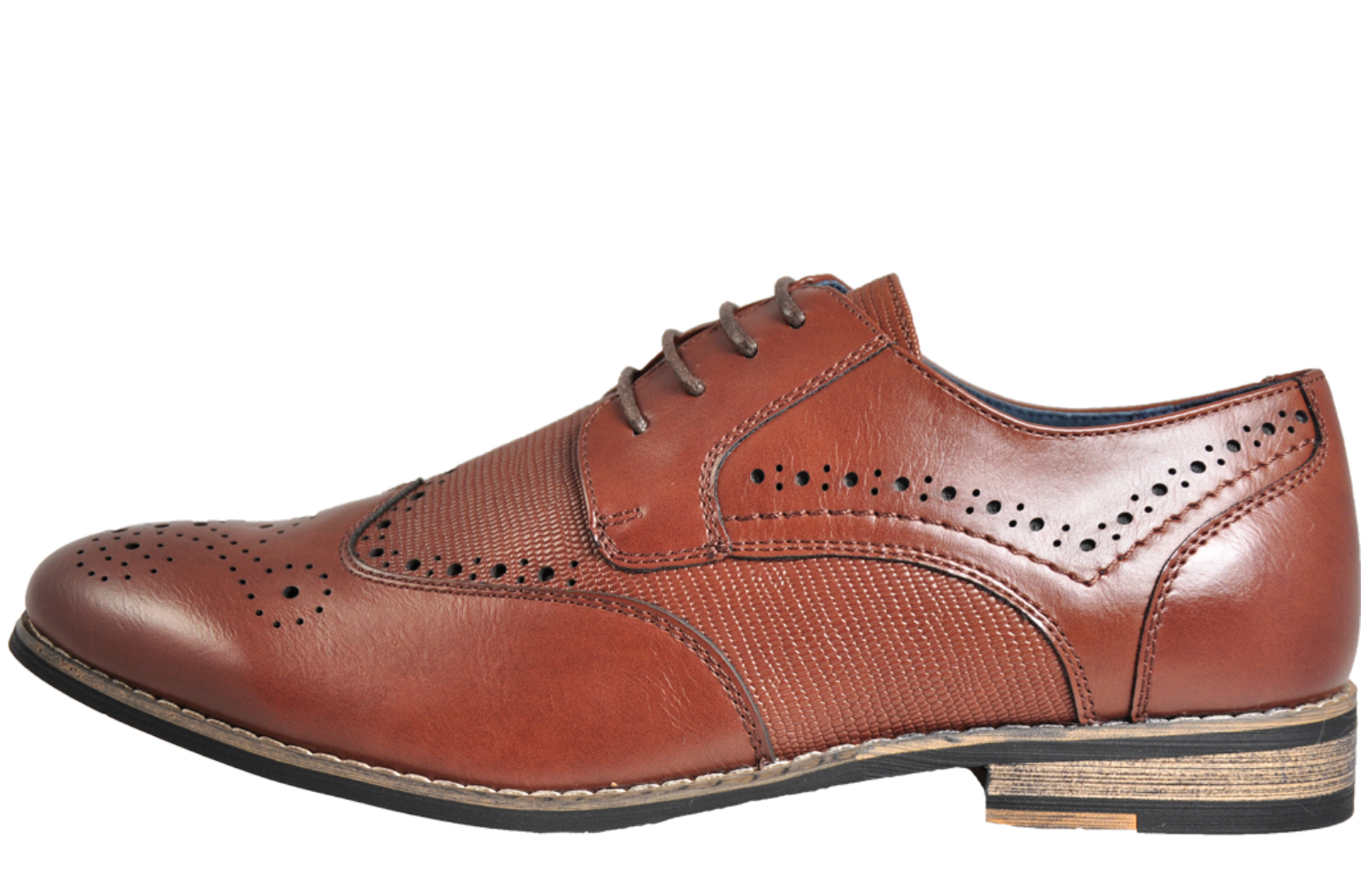 Bruno Marc NY Vintage Leather Lined Brogues Mens - PR159467