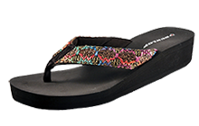 Dunlop Caribe Wedge Flop Flop Sandals Womens B Grade - DL140897B