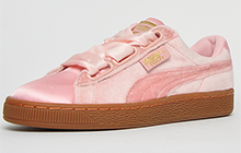 Puma Vintage Basket Heart Velour & Satin Womens Girls - PU217760